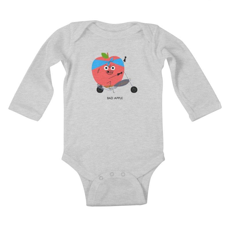 Bad Apple Kids Baby Longsleeve Bodysuit by Mauro Gatti House of Fun