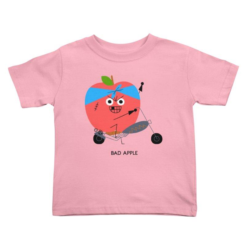 Bad Apple Kids Toddler T-Shirt by Mauro Gatti House of Fun