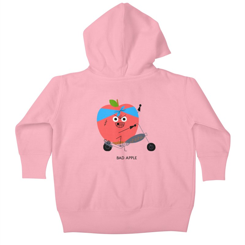 Bad Apple Kids Baby Zip-Up Hoody by Mauro Gatti House of Fun