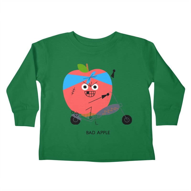 Bad Apple Kids Toddler Longsleeve T-Shirt by Mauro Gatti House of Fun