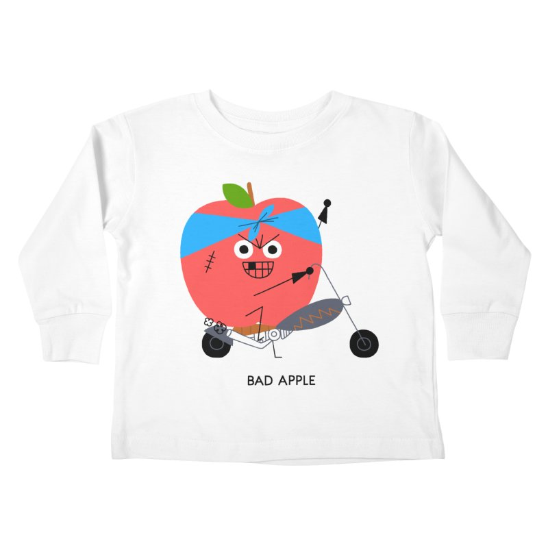 Bad Apple Kids Toddler Longsleeve T-Shirt by Mauro Gatti House of Fun