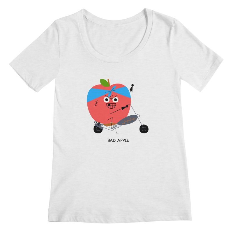 Bad Apple Women's Scoopneck by Mauro Gatti House of Fun