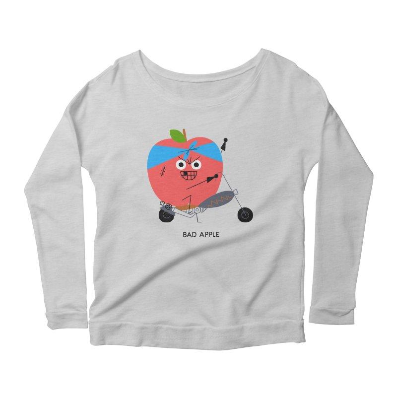 Bad Apple Women's Scoop Neck Longsleeve T-Shirt by Mauro Gatti House of Fun