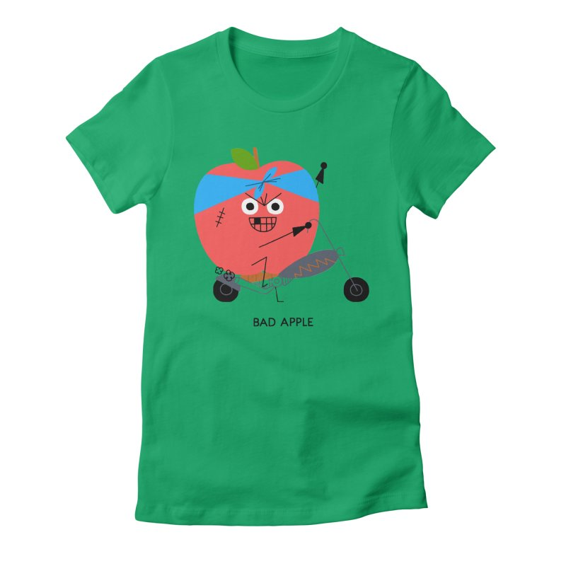 Bad Apple Women's Fitted T-Shirt by Mauro Gatti House of Fun