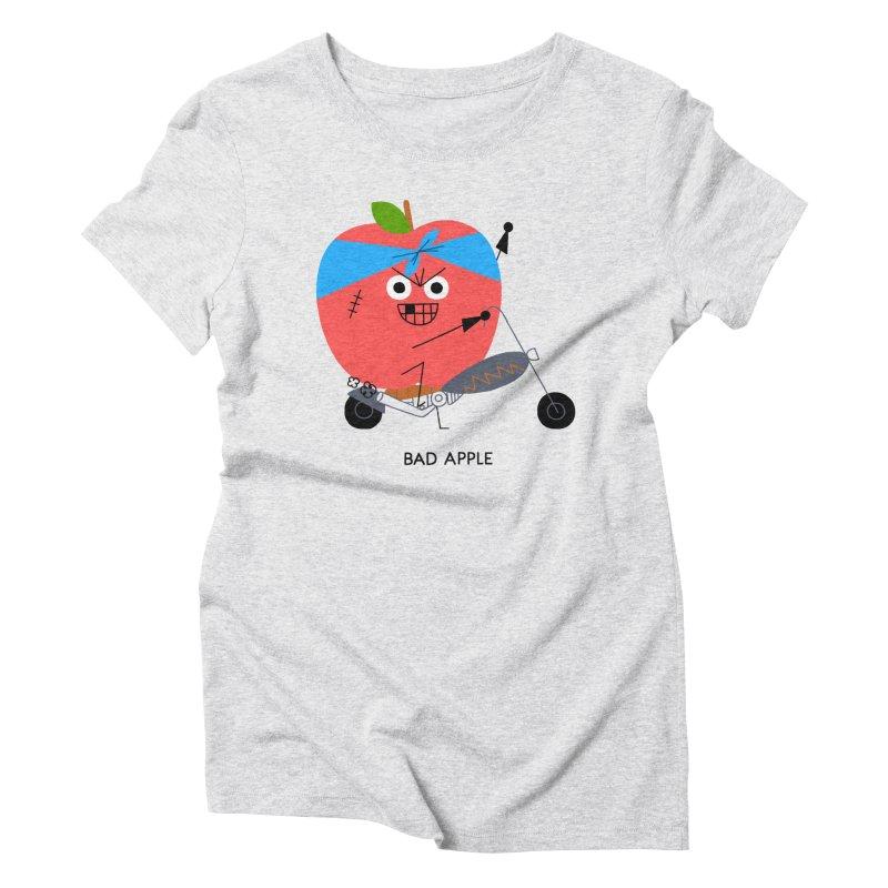 Bad Apple Women's Triblend T-Shirt by Mauro Gatti House of Fun