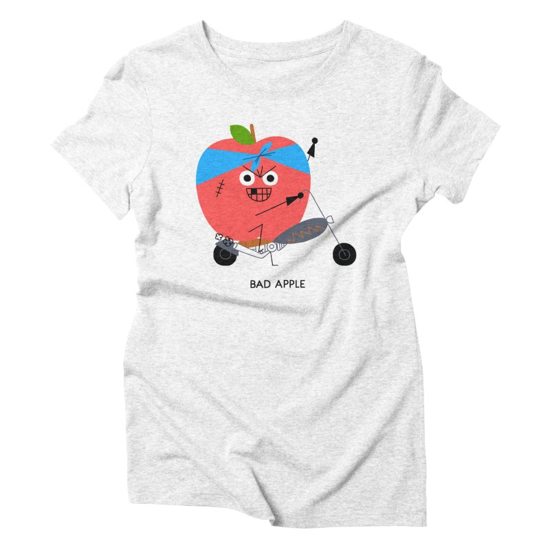 Bad Apple Women's Triblend T-shirt by Mauro Gatti House of Fun