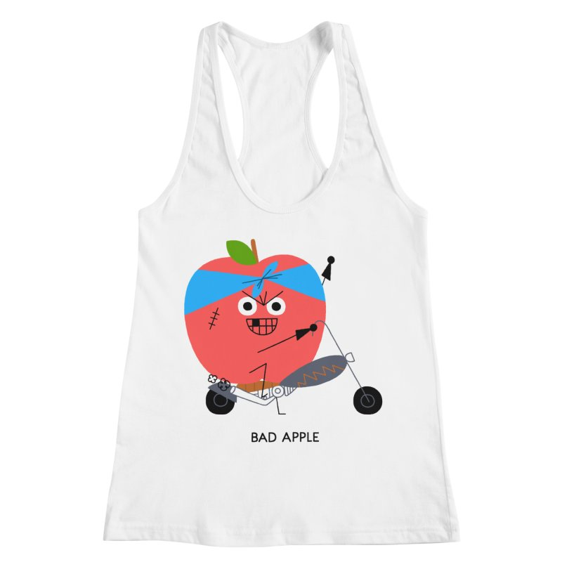 Bad Apple Women's Racerback Tank by Mauro Gatti House of Fun