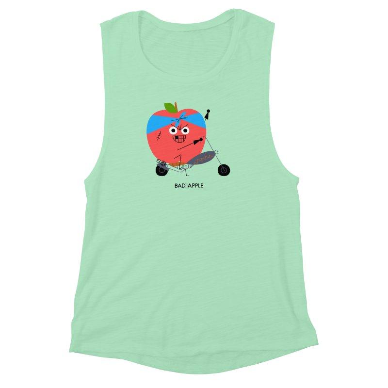Bad Apple Women's Muscle Tank by Mauro Gatti House of Fun