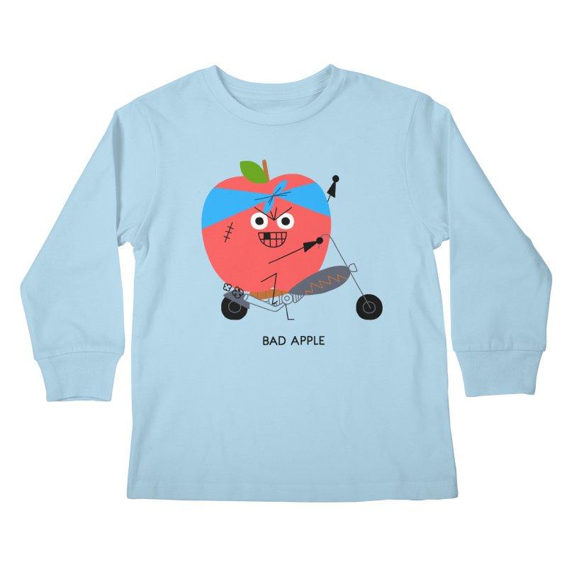 Bad Apple Kids Longsleeve T-Shirt by Mauro Gatti House of Fun