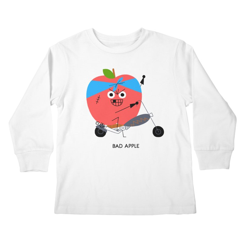 Bad Apple Kids Longsleeve T-Shirt by Mauro Gatti House of Fun
