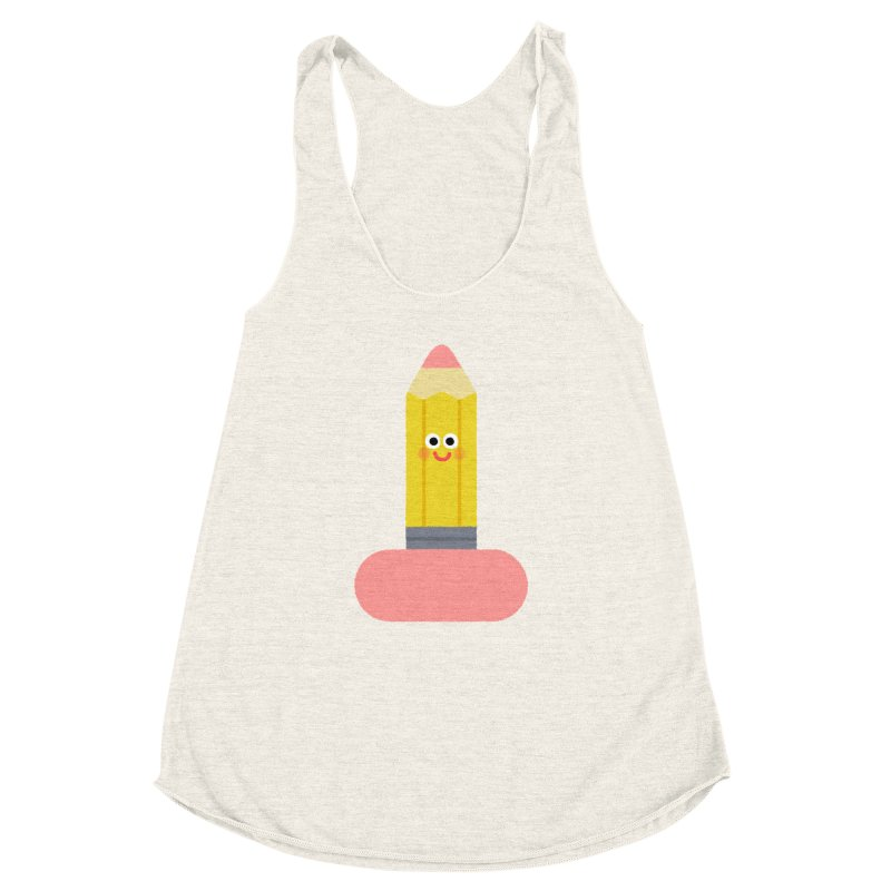 My pencil is longer than yours Women's Racerback Triblend Tank by Mauro Gatti House of Fun