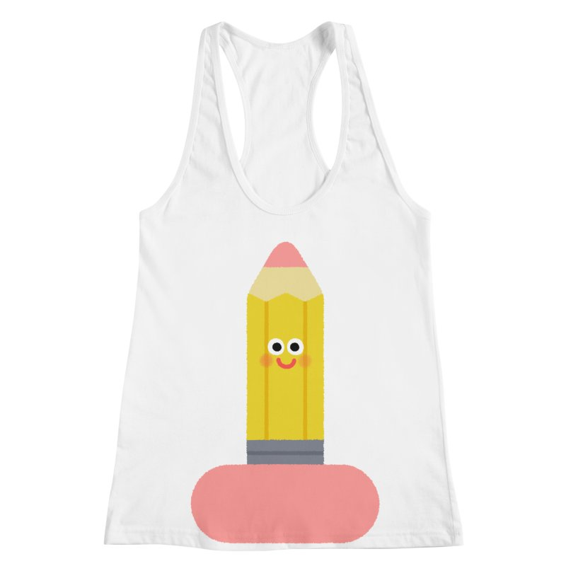 My pencil is longer than yours Women's Racerback Tank by Mauro Gatti House of Fun