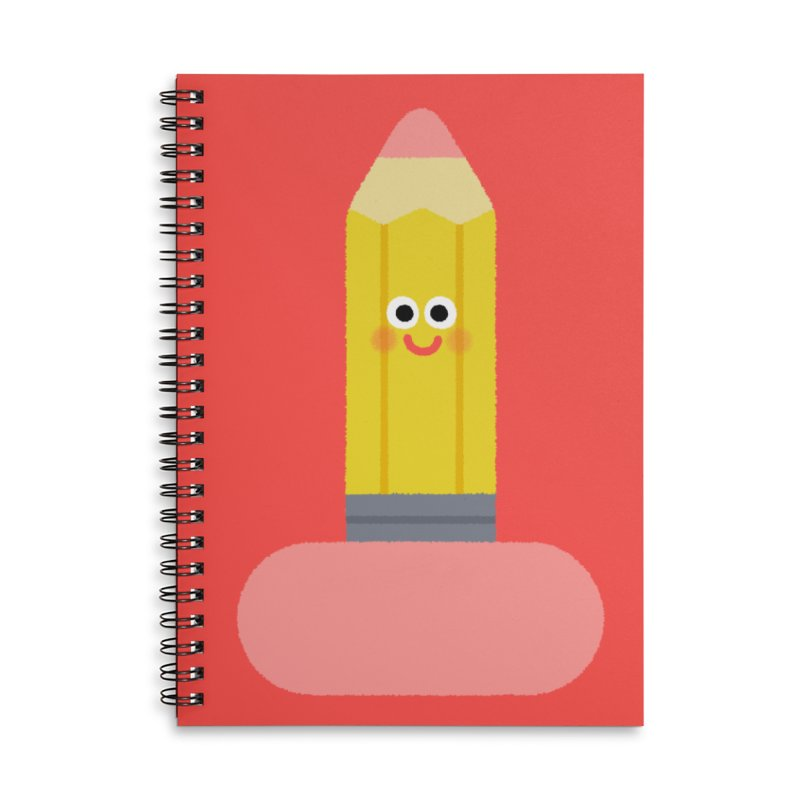 My pencil is longer than yours Accessories Lined Spiral Notebook by Mauro Gatti House of Fun