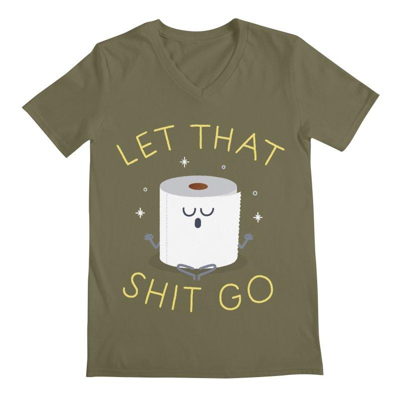 Let That Shit Go Men's Regular V-Neck by Mauro Gatti House of Fun