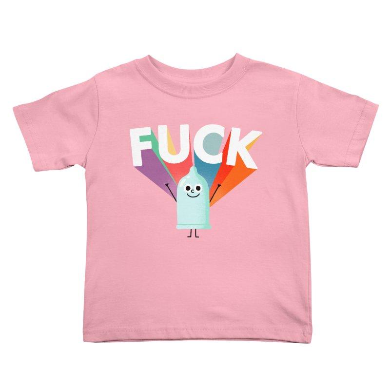 Fuck Kids Toddler T-Shirt by Mauro Gatti House of Fun
