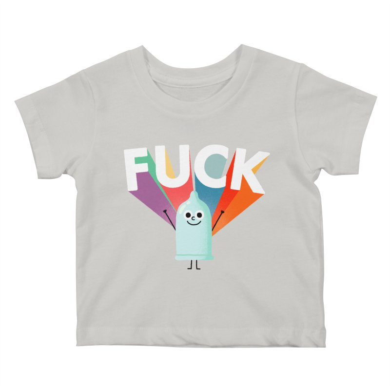 Fuck Kids Baby T-Shirt by Mauro Gatti House of Fun