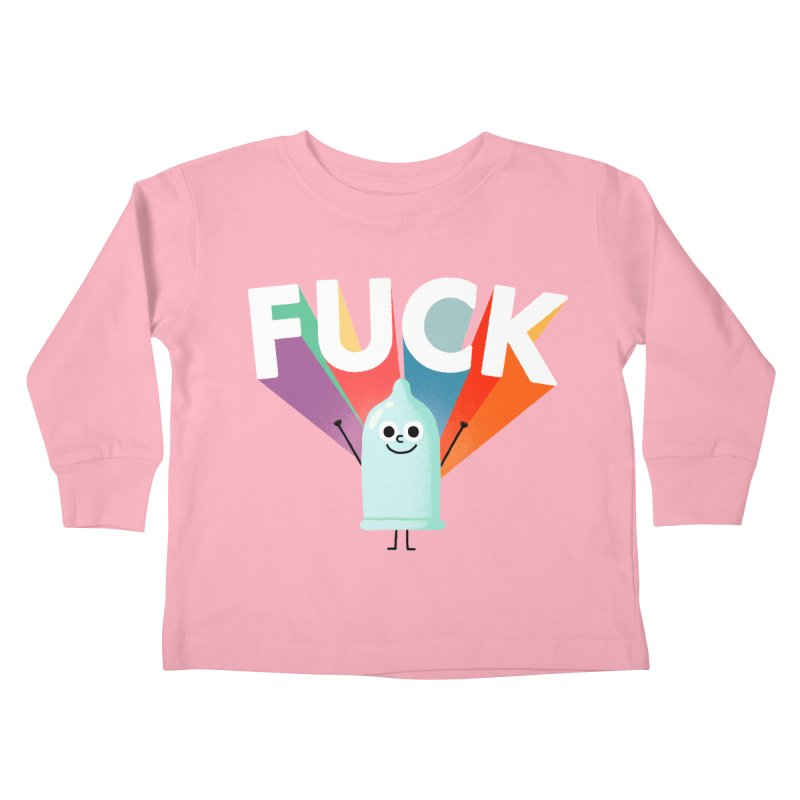 Fuck Kids Toddler Longsleeve T-Shirt by Mauro Gatti House of Fun