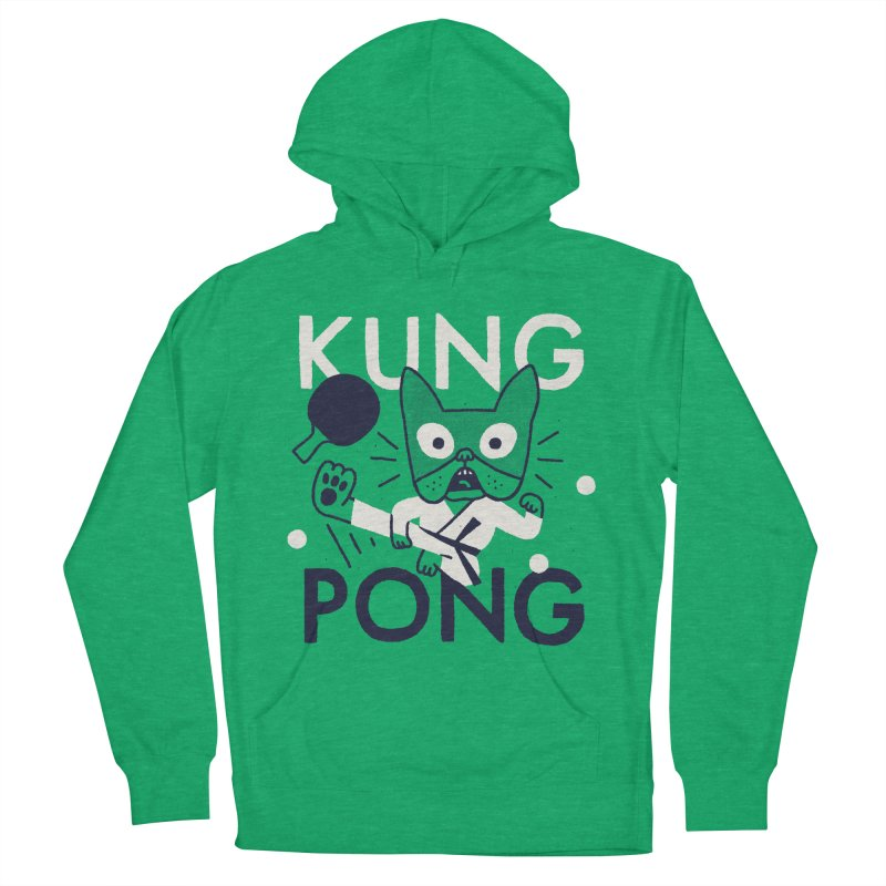 Kung Pong Men's French Terry Pullover Hoody by Mauro Gatti House of Fun
