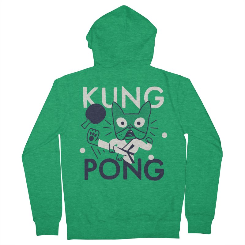 Kung Pong Women's French Terry Zip-Up Hoody by Mauro Gatti House of Fun