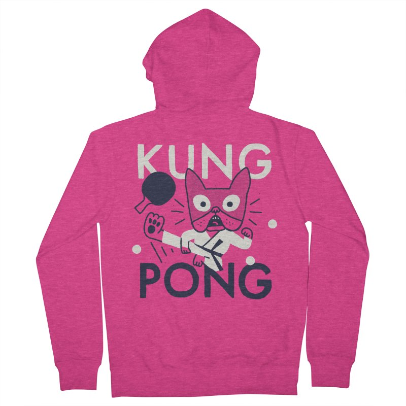 Kung Pong Women's Zip-Up Hoody by Mauro Gatti House of Fun