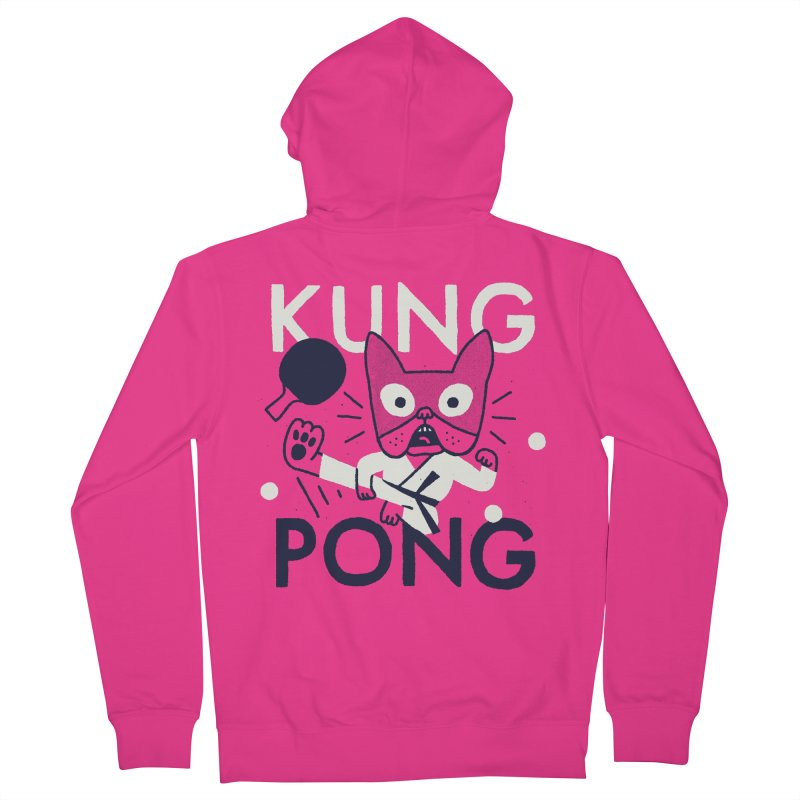 Kung Pong Men's Zip-Up Hoody by Mauro Gatti House of Fun
