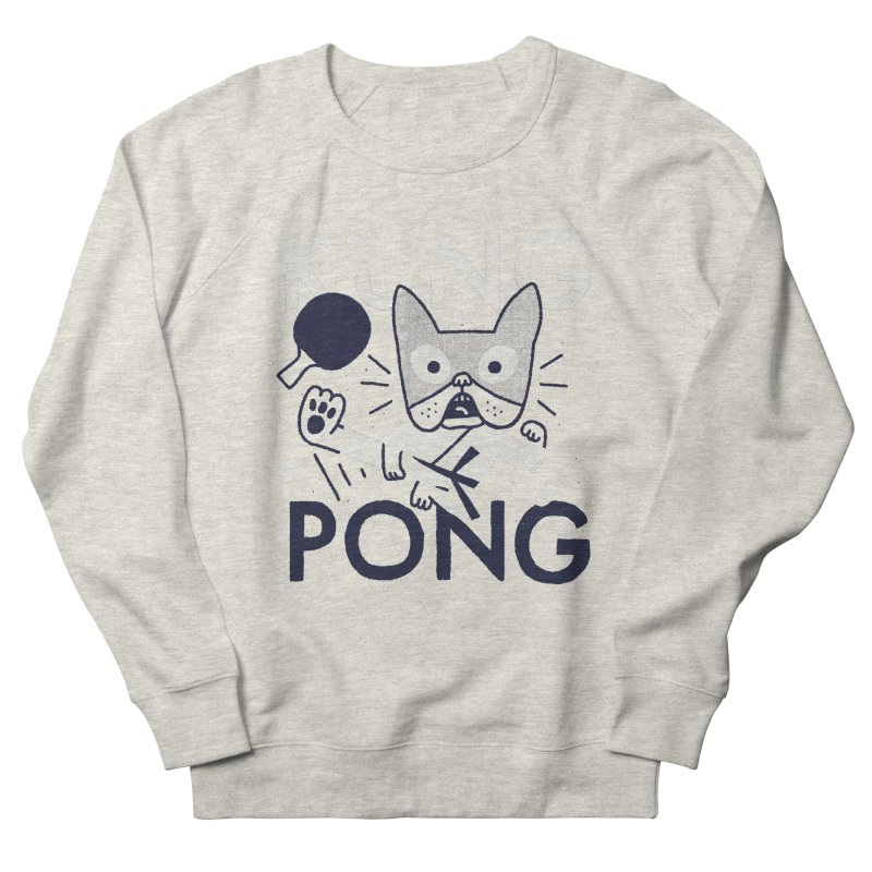 Kung Pong Men's French Terry Sweatshirt by Mauro Gatti House of Fun