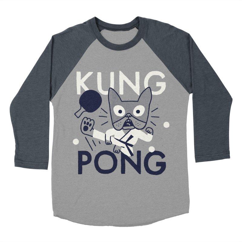 Kung Pong Women's Baseball Triblend T-Shirt by Mauro Gatti House of Fun