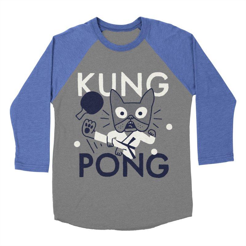 Kung Pong Men's Baseball Triblend T-Shirt by Mauro Gatti House of Fun