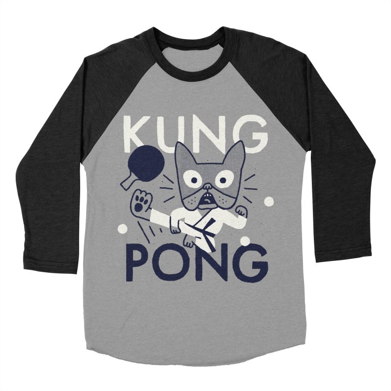 Kung Pong Men's Baseball Triblend T-Shirt by Mauro Gatti House of Fun