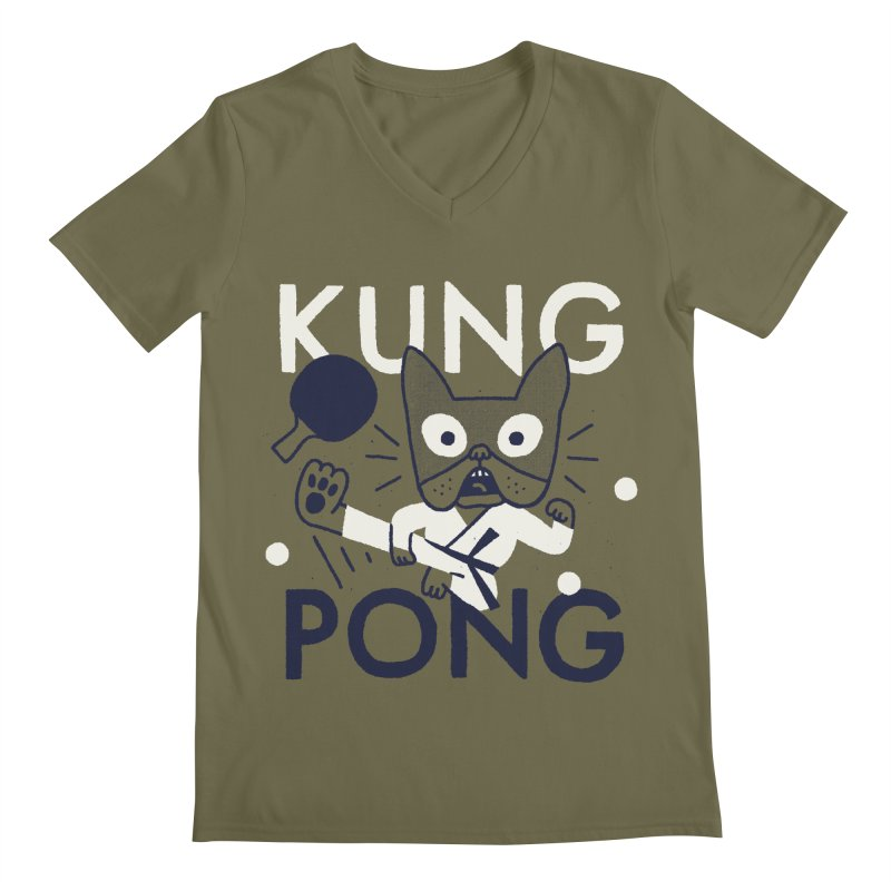 Kung Pong Men's V-Neck by Mauro Gatti House of Fun