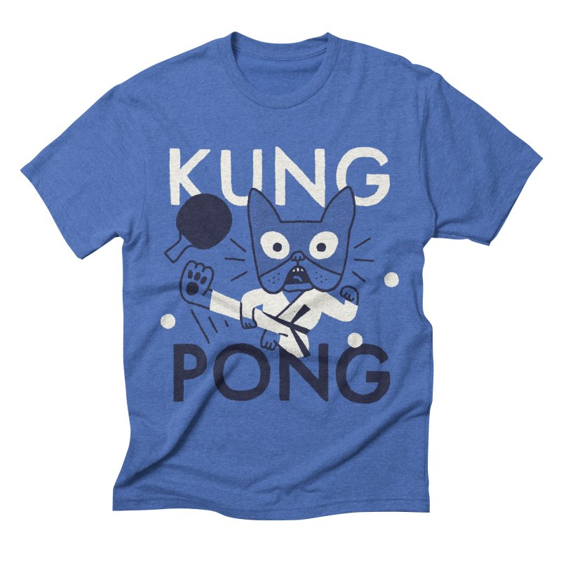 Kung Pong Men's Triblend T-shirt by Mauro Gatti House of Fun