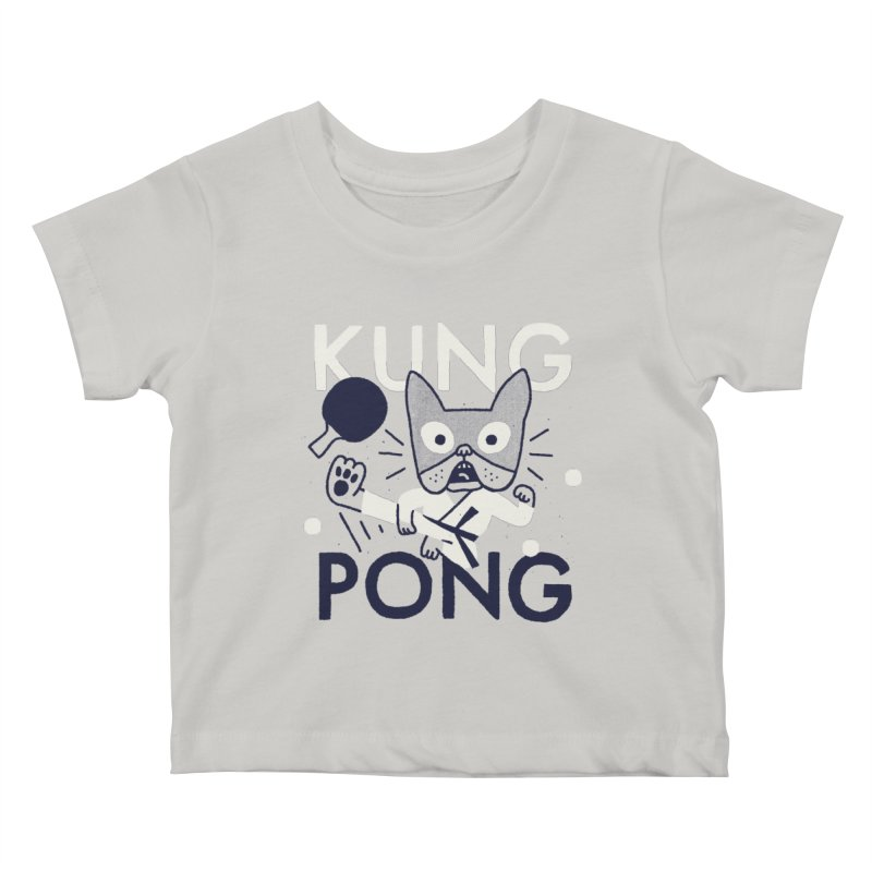 Kung Pong Kids Baby T-Shirt by Mauro Gatti House of Fun