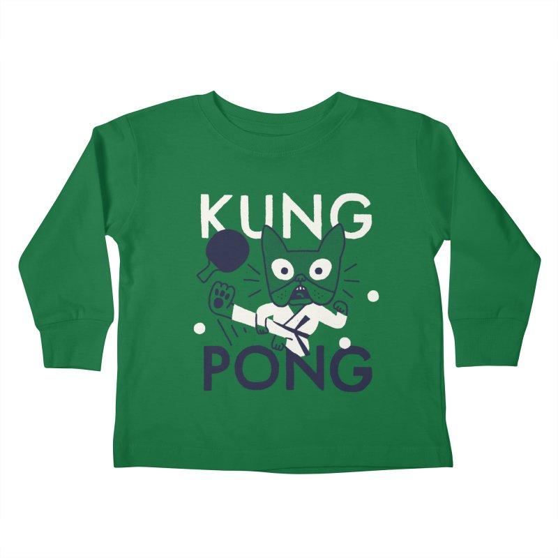 Kung Pong Kids Toddler Longsleeve T-Shirt by Mauro Gatti House of Fun