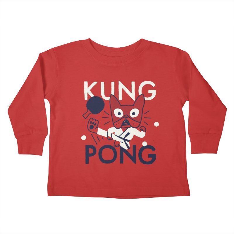 Kung Pong Kids Toddler Longsleeve T-Shirt by Mauro Gatti House of Fun