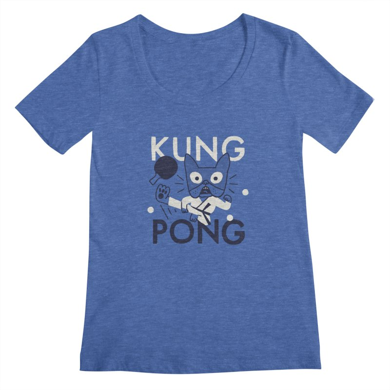 Kung Pong Women's Scoopneck by Mauro Gatti House of Fun