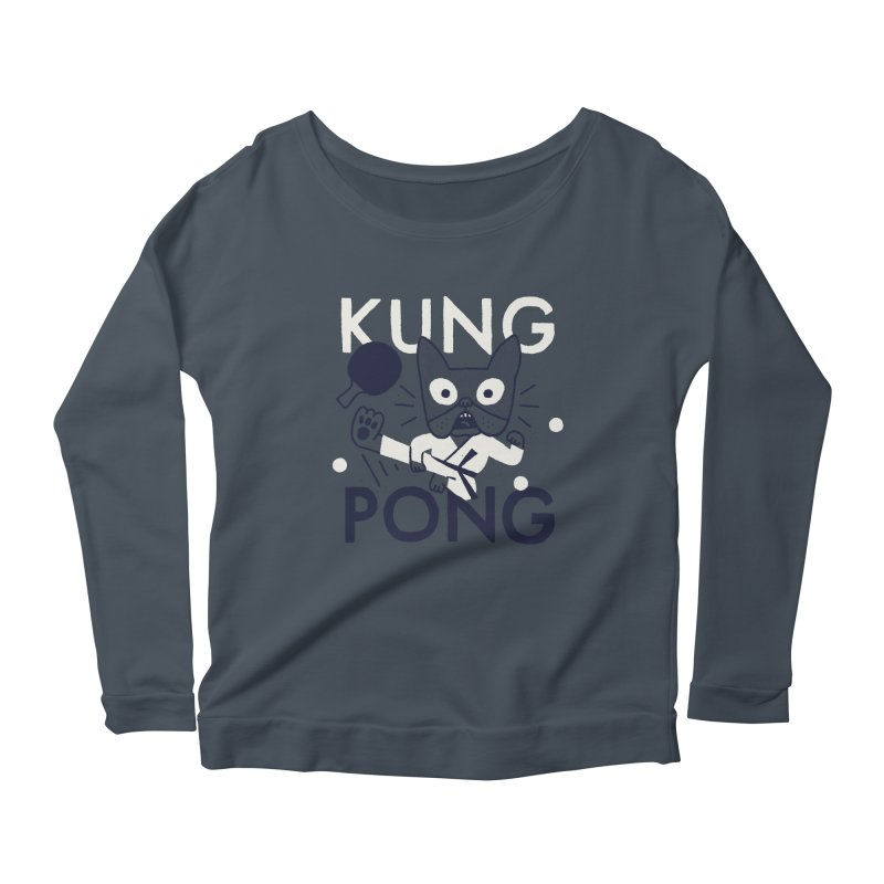Kung Pong Women's Longsleeve Scoopneck  by Mauro Gatti House of Fun