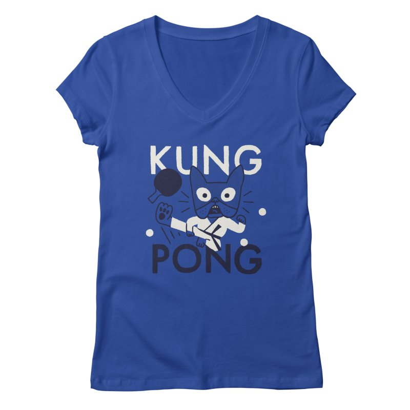 Kung Pong Women's V-Neck by Mauro Gatti House of Fun