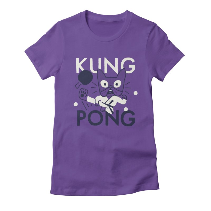 Kung Pong Women's Fitted T-Shirt by Mauro Gatti House of Fun