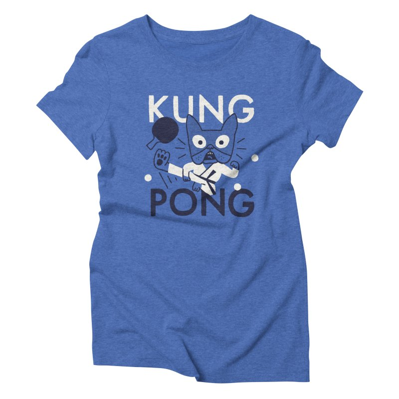 Kung Pong Women's Triblend T-shirt by Mauro Gatti House of Fun
