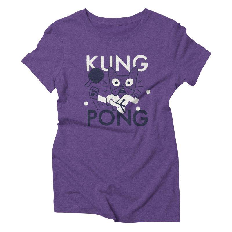 Kung Pong Women's Triblend T-Shirt by Mauro Gatti House of Fun