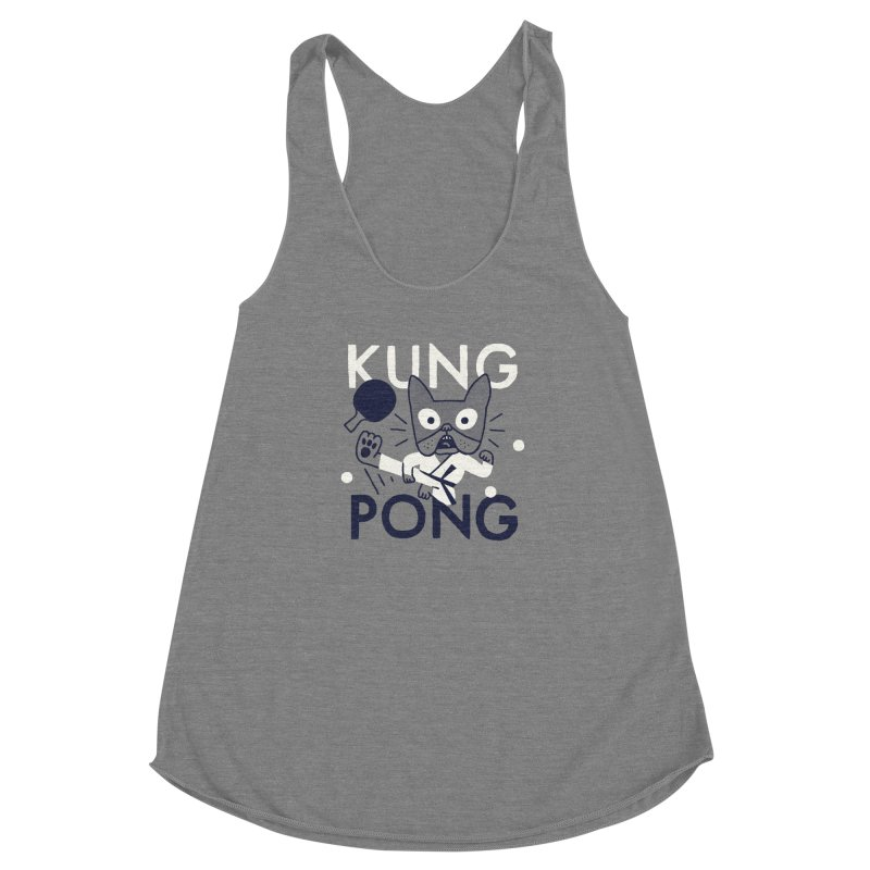 Kung Pong Women's Racerback Triblend Tank by Mauro Gatti House of Fun