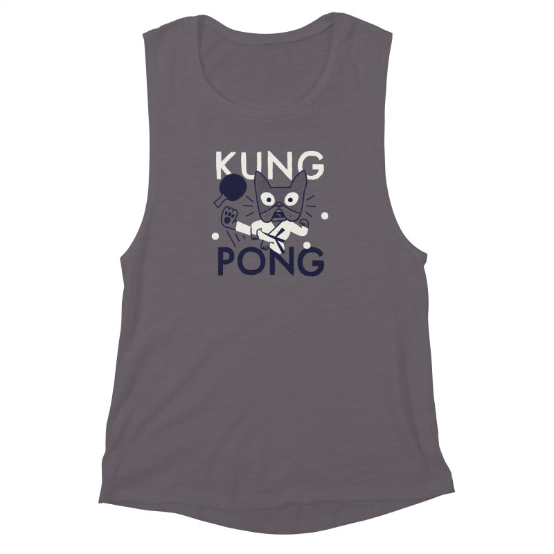 Kung Pong Women's Muscle Tank by Mauro Gatti House of Fun