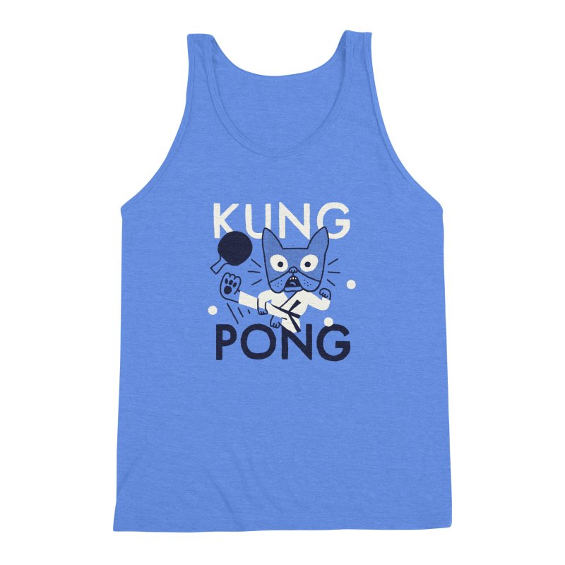 Kung Pong Men's Triblend Tank by Mauro Gatti House of Fun