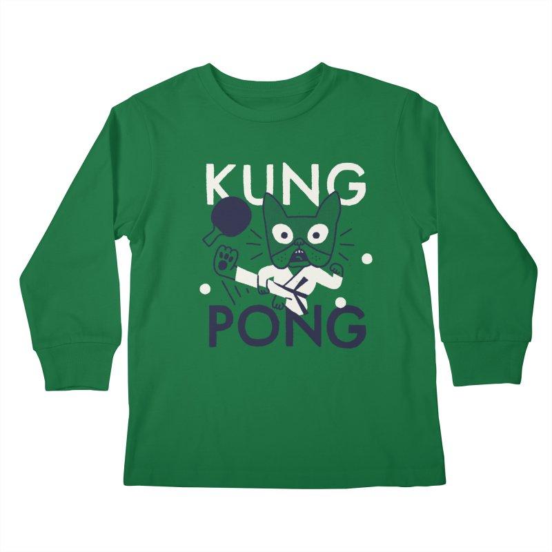 Kung Pong Kids Longsleeve T-Shirt by Mauro Gatti House of Fun