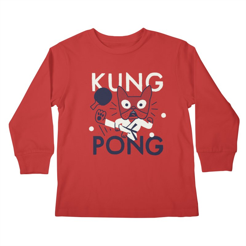 Kung Pong Kids Longsleeve T-Shirt by Mauro Gatti House of Fun