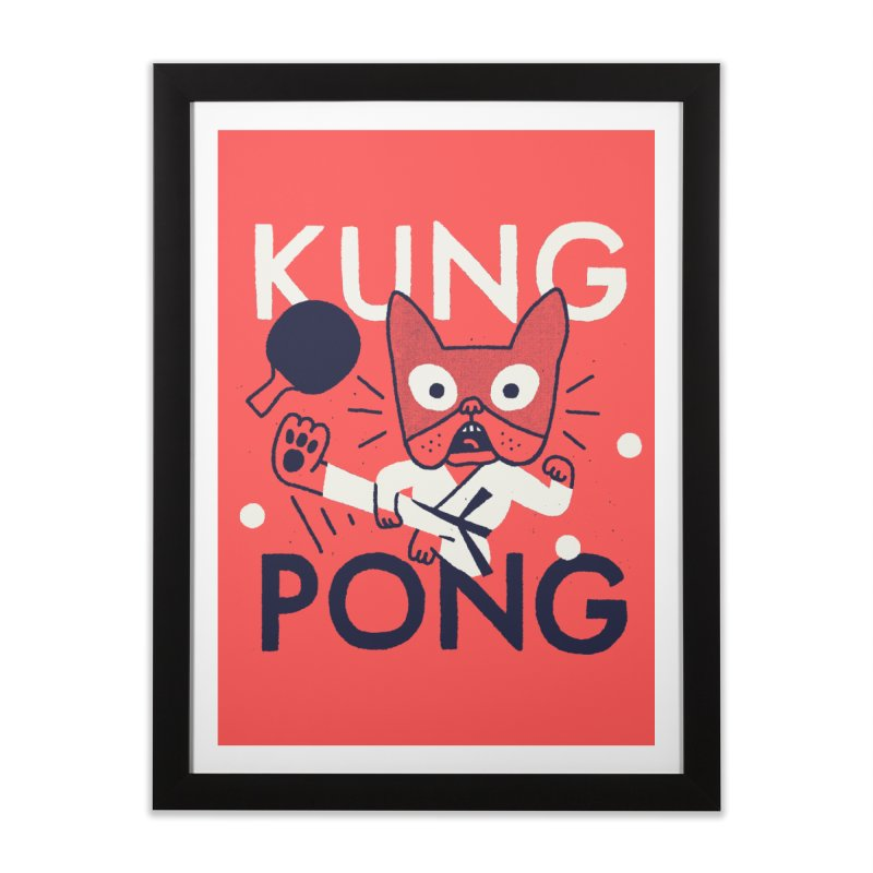 Kung Pong Home Framed Fine Art Print by Mauro Gatti House of Fun