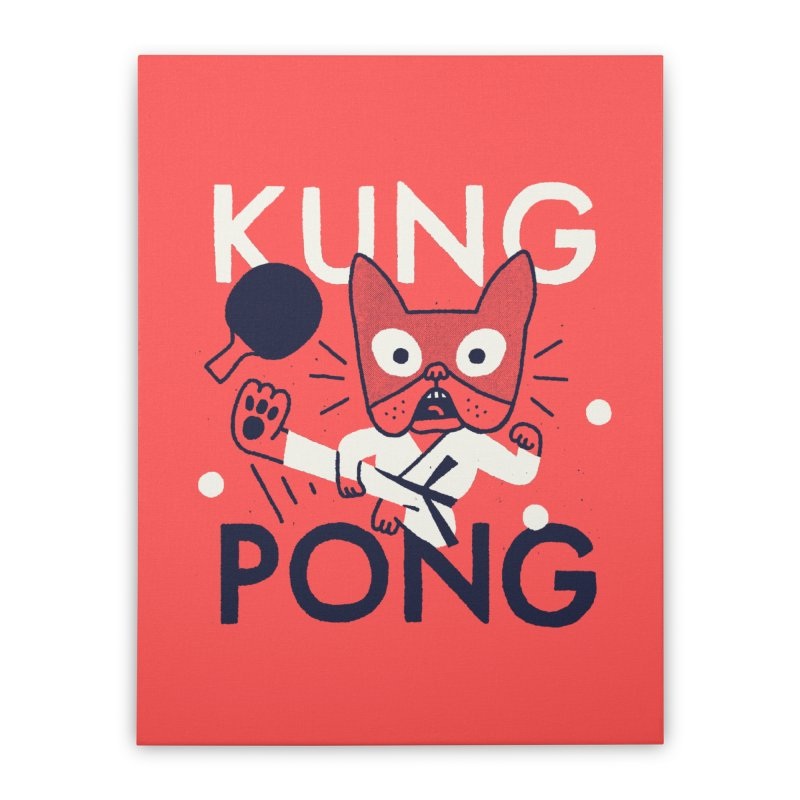 Kung Pong Home Stretched Canvas by Mauro Gatti House of Fun
