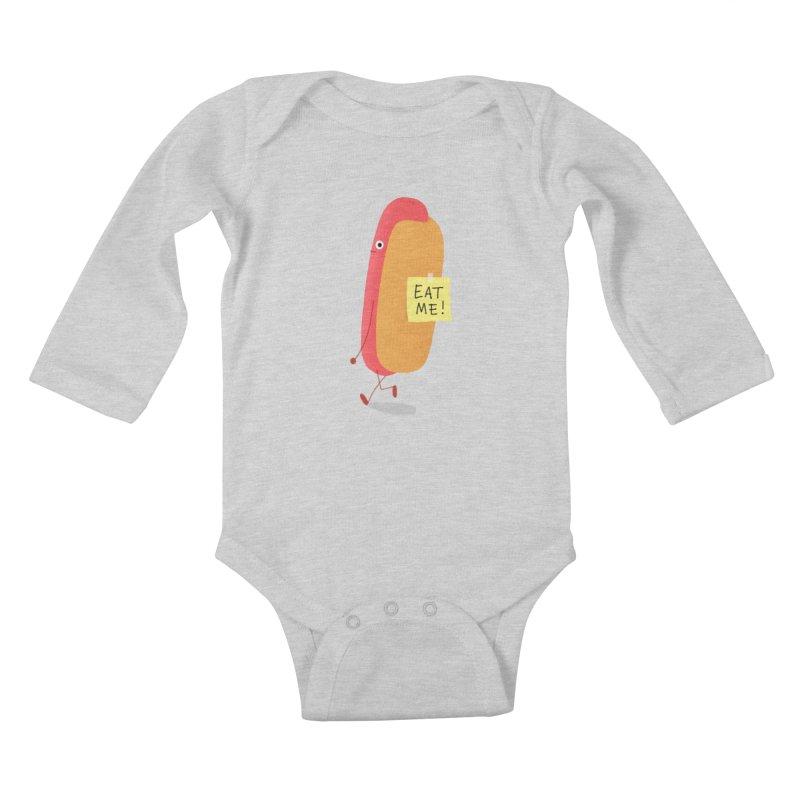 Hot Dog Prank Kids Baby Longsleeve Bodysuit by Mauro Gatti House of Fun