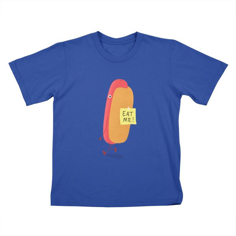 Hot Dog Prank Kids T-Shirt by Mauro Gatti House of Fun