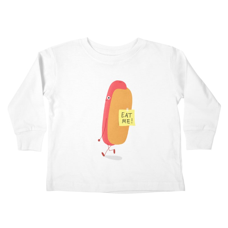 Hot Dog Prank Kids Toddler Longsleeve T-Shirt by Mauro Gatti House of Fun